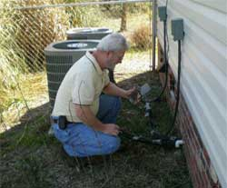home inspector doing home inspection 2